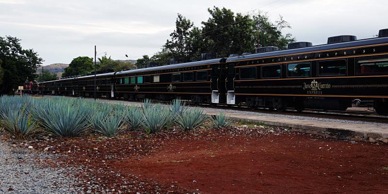 Rückfahrt mit dem Jose Cuervo Express
