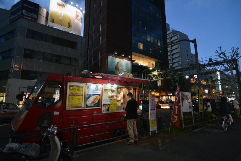 Döner-Verkäufer in Shibuya
