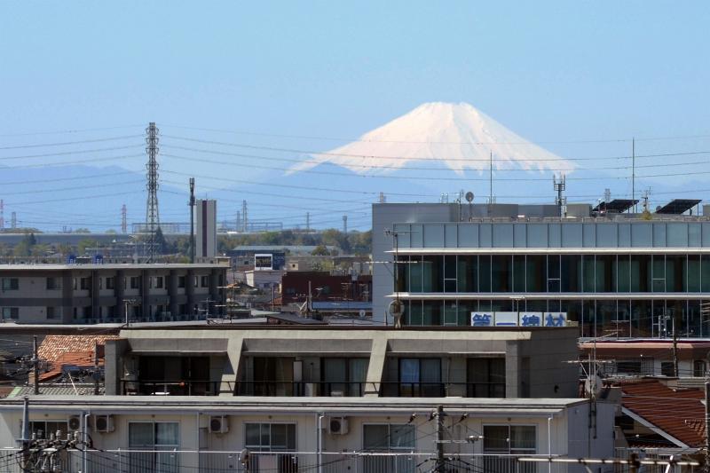 Der Fuji aus dem Norden Tokyos