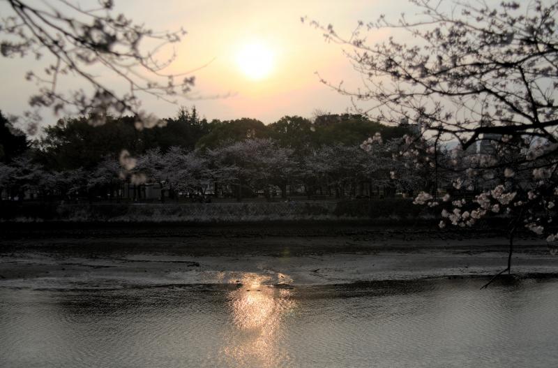 Blick auf den Friedenspark in Hiroshima