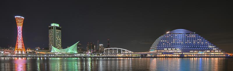 Hafen-Skyline von Kobe
