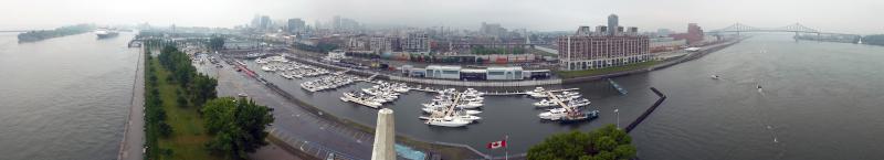 300-Grad Panorama aus dem Uhrenturm im Hafen
