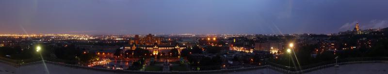 Nachtpanorama von Montreals Norden