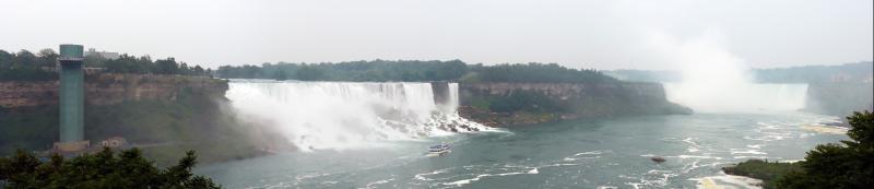 Die amerikanischen (links) und kanadischen (rechts) Niagara-Fälle