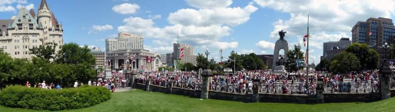 Canada Day Panorama vom Parliament Hill