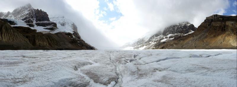 Gletscherpanorama beim Aufstieg