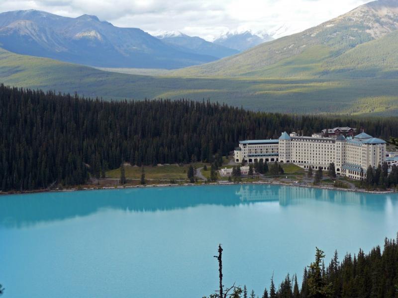 Lake Louise mit dem Fairmont Hotel