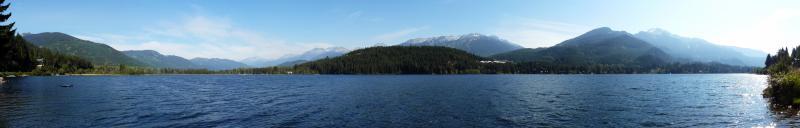 Ausblick von der Jugendherberge in Whistler