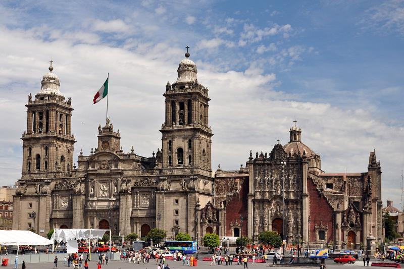 Die Kathedrale am Zócalo
