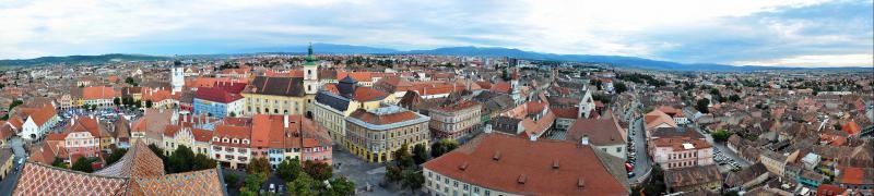 Sibiu vom Kirchturm