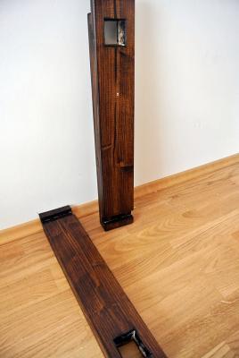 Die Balken für Decke und Boden