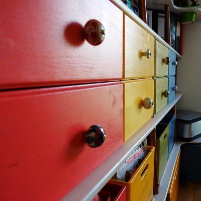Die eingebauten Schubladen