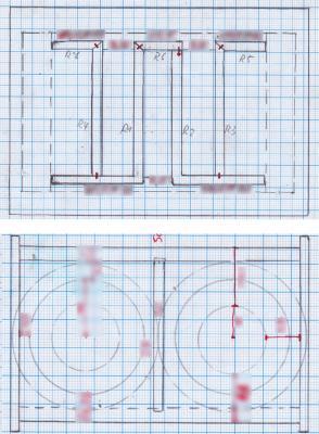 Old-school Bauplan auf Millimeterpapier