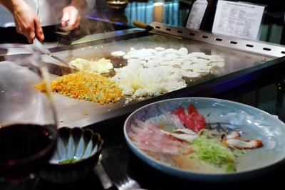 Teppanyaki und Sashimi