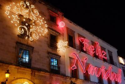 Weihnachtsdeko in Guadalajara