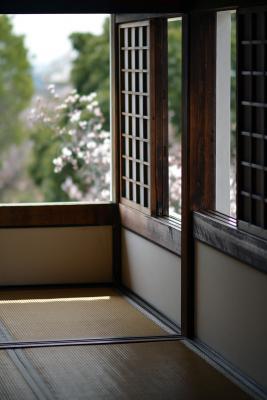 Blick aus einem der Frauenzimmer im Schloss Himeji