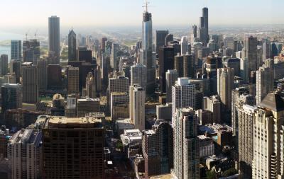 Blick auf Downtown Chicago