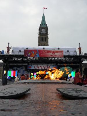Vorbereitungen für den Canada Day am Parlament