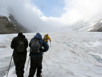 Eiswanderung auf dem Athabasca Gletscher