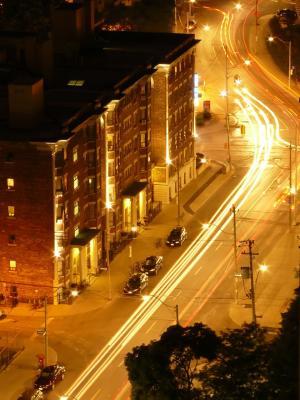 Meine Straße in Toronto bei Nacht