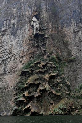 Interessante Felsformation in der Sumidero-Schlucht
