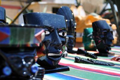 Skulpturen aus Obsidian in Teotihuacan