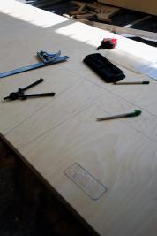 Anzeichnen auf dem Holz